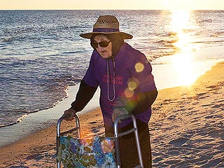 WATCH: 100-Year-Old Woman Sees the Ocean for the First Time
