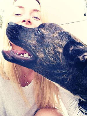 Lindsey Vonn Adopts Dog with Knee Injury: Photo