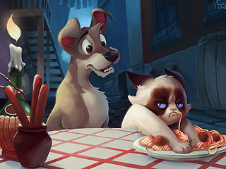 The Daily Treat: See Grumpy Cat in Your Favorite Disney Movies