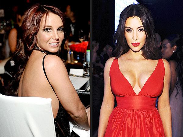 Kim, Kourtney, Khloé Kardashian & Britney Spears Celebrate Oscars with Elton John