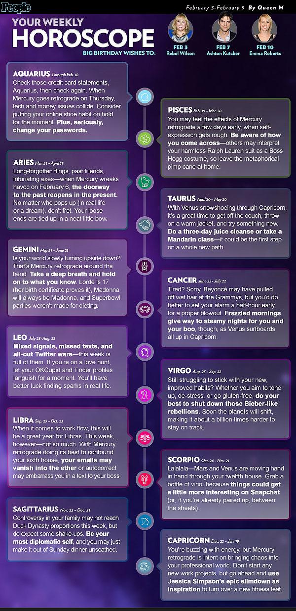 Your Weekly Horoscope: Week of 2/3-2/9