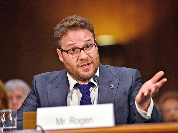 Seth Rogen Visits Congress to Ask for Alzheimer's Support