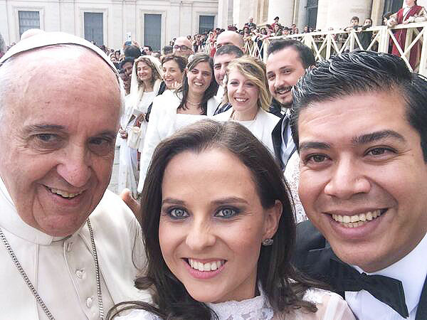 Pope Francis' History of Selfies from Twitter and Instagram