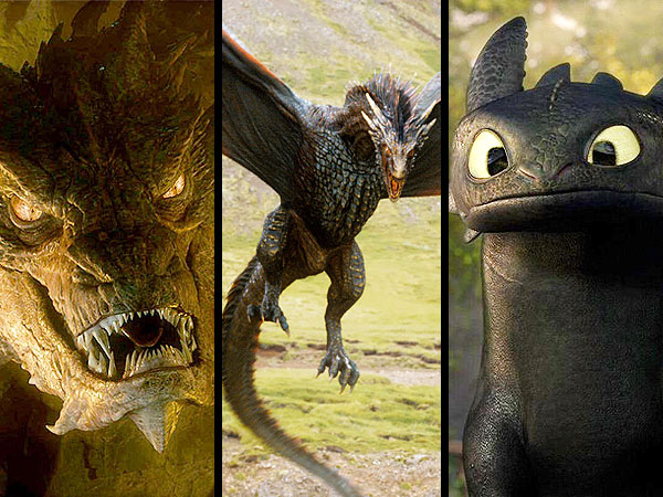 Game of Thrones and How to Train Your Dragon: See Pop-Culture Dragons, Ranked