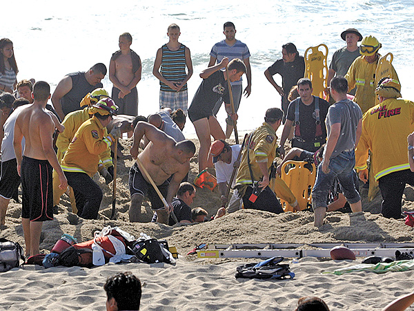 Man Dies at California Beach After Sand Hole Collapses