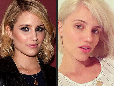Dianna Agron Cuts Her Hair, Goes Bright Platinum (PHOTOS)
