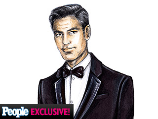 George Clooney's Wedding Tux: See An Exclusive Sketch and Get All the Details!
