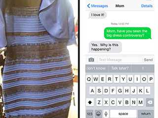 Texts from Last Night: #TheDress Edition
