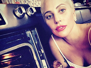 Lady Gaga Makes a Cheesy, Saucy Pasta for Chicago Firefighters (PHOTOS)