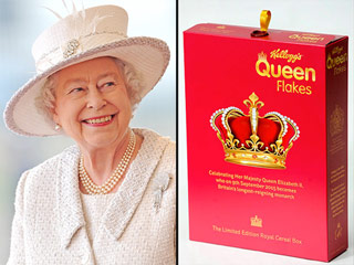 Kellogg's Introduces 'Queen Flakes' Cereal to Celebrate Queen Elizabeth's Historic Reign