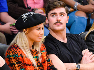Three's Company: Zac Efron, Sami Miró and His New Mustache Go on a Date