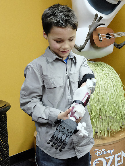3D-Printed 'Stormtrooper' Prosthetic Arm for Georgia Boy