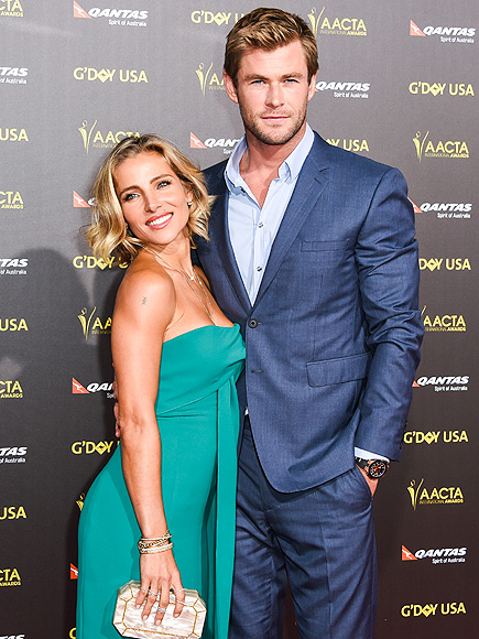 Chris Hemsworth and Wife Elsa Pataky at the G'Day USA Gala ...