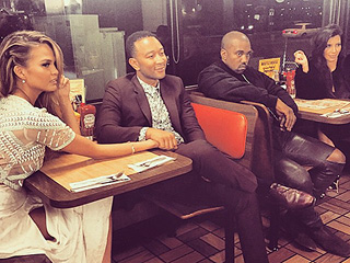 You'll Never Guess Where Kim & Kanye Went with Chrissy Teigen & John Legend on a Double Date