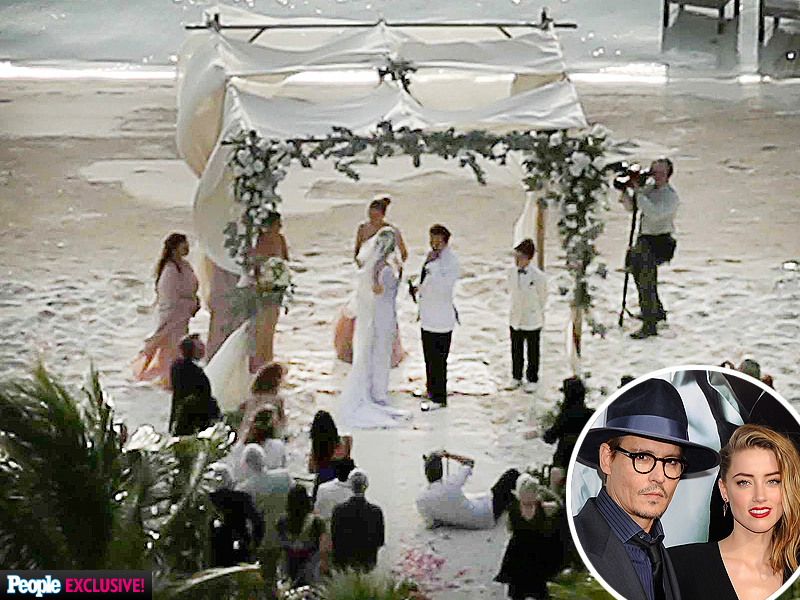 Amber Heard Johnny Depp Wedding