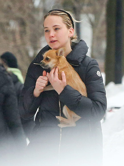 Jennifer Lawrence Stays in Shape by Spinning – and Her Dog Comes Too!