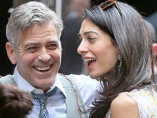 George and Amal Clooney Laugh It Up on the Set of Money Monster