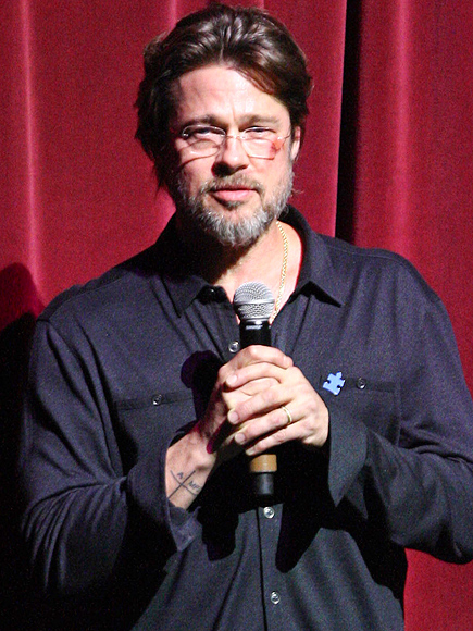 Brad Pitt Has a Bruised Face at Autism Speaks Event in Hollywood