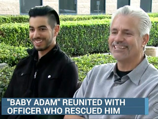 Man Reunites with Cop Who Rescued Him from a Dumpster as a Baby in 1989