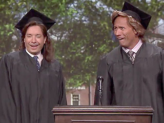 Watch Dwayne Johnson and Jimmy Fallon's 1989 Graduation Speech