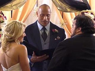 Watch Dwayne 'The Rock' Johnson Officiate a Longtime Fan's Surprise Wedding (VIDEO)