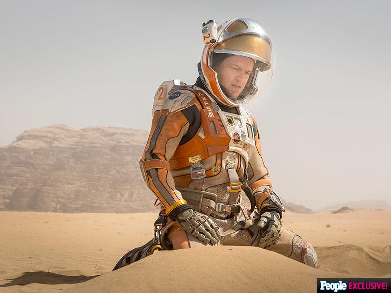 Matt Damon in Ridley Scott's The Martian