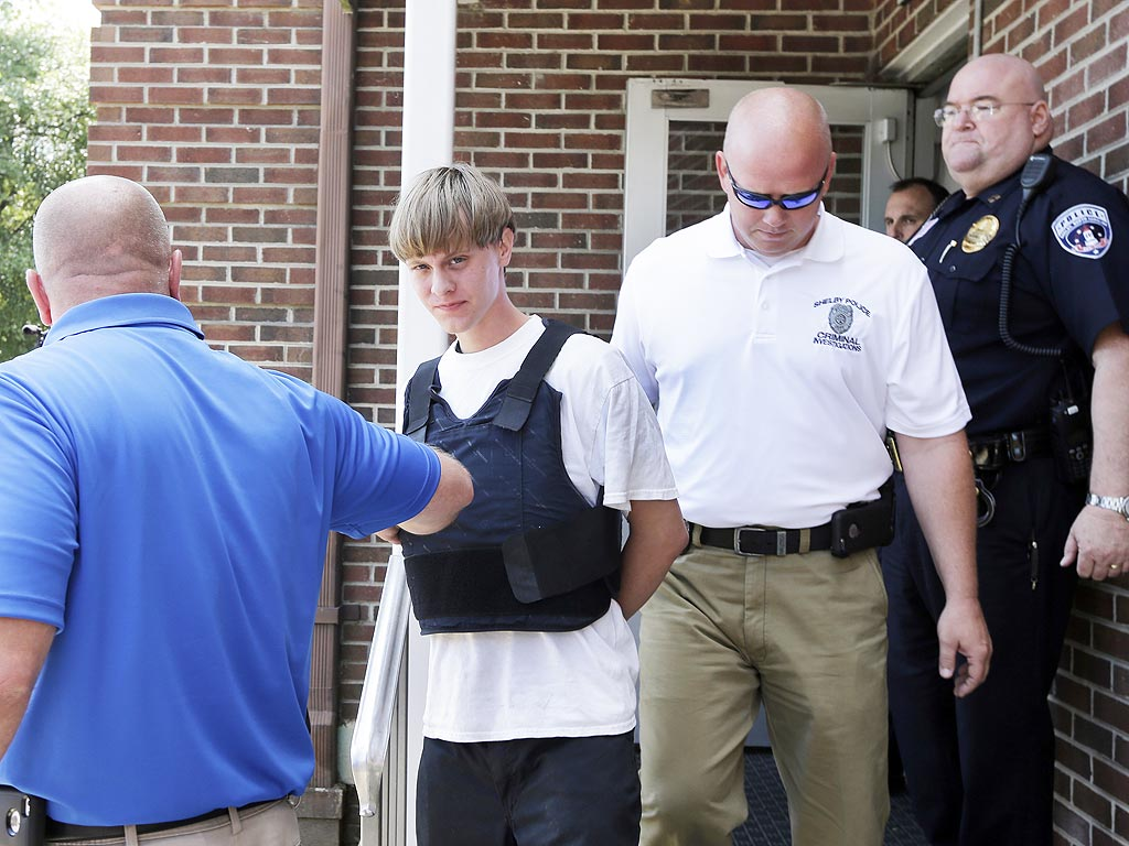 Church Shooting Dylann Storm Roof Taken In Chains From