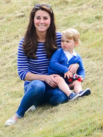 Prince George Watching Prince William Play Polo