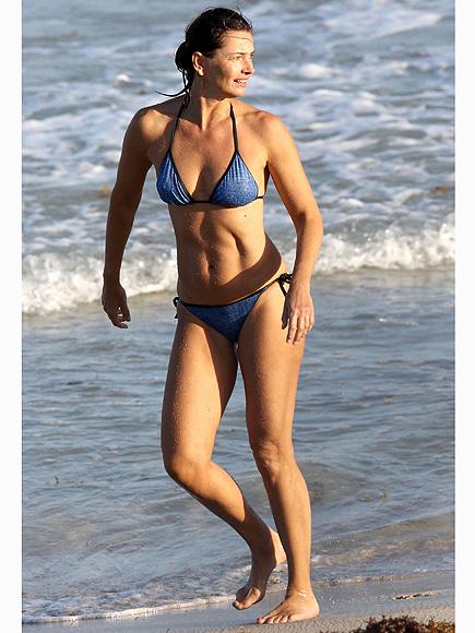 Paulina Porizkova Wears Bikini Barts