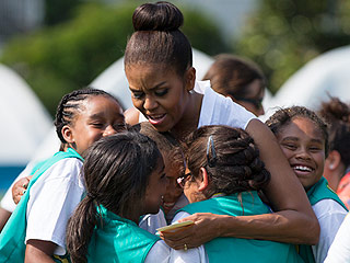 Michelle Obama Throws a Girl Scouts Slumber Party on the White House Lawn