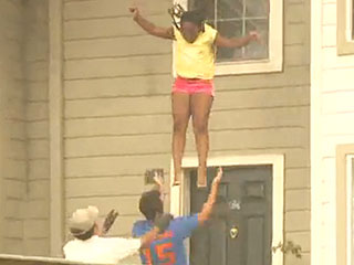 Teen Girls Make Desperate Jump from Window to Escape Raging Fire