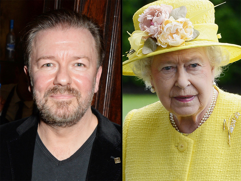 Ricky Gervais Defends Queen Elizabeth After Photos Surface of Her Nazi Salute