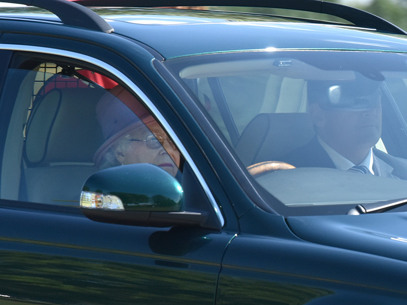 Queen Elizabeth Drives to Church in First Appearance Since Nazi Salute Scandal