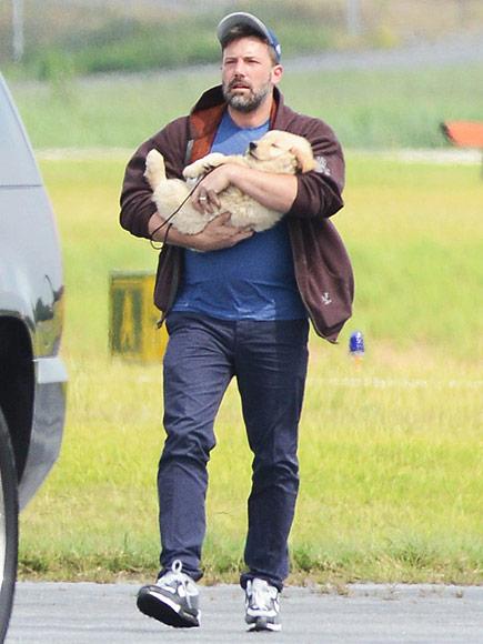 Ben Affleck Visits Atlanta with New Puppy