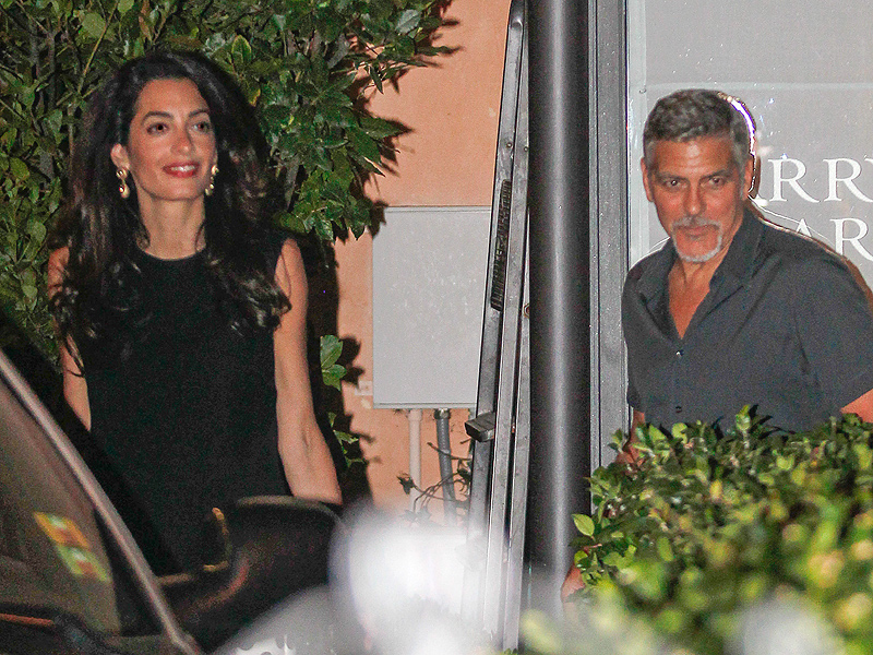 George and Amal Clooney Visit Tuscany