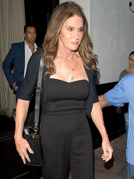 Caitlyn Jenner Sports Chic Black Pantsuit for Night Out at Eva Longoria's Beso