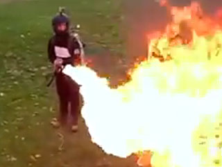 You Can Now Buy a Personal Flame-Thrower – and It Will Only Cost You $1,600 (VIDEO)