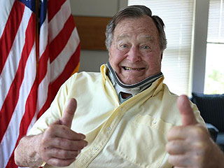 George H.W. Bush Gives Two Thumbs Up in New Photo After Fall