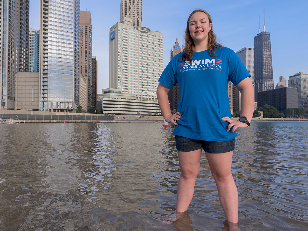 14-Year-Old Illinois Girl to Swim Across Lake Michigan for Cancer Research