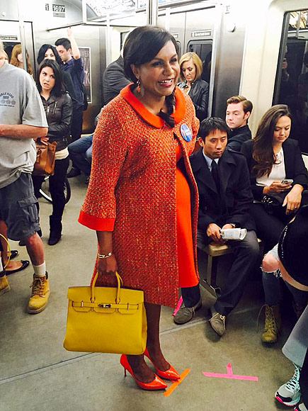 Mindy Kaling Instagrams Mindy Project Baby Bump