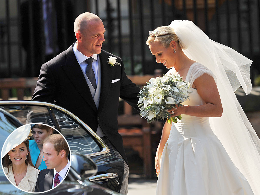 Zara Phillips Weds While Newlyweds William and Kate Look On