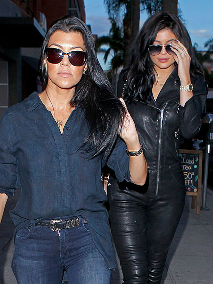 Kourtney Kardashian and Kylie Jenner Step Out in Beverly Hills