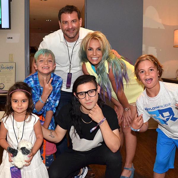 Skrillex Meets Britney Spears's Sons at Vegas Show