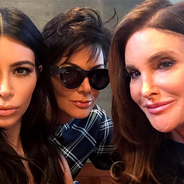 Caitlyn and Kris Jenner Pose for Photo