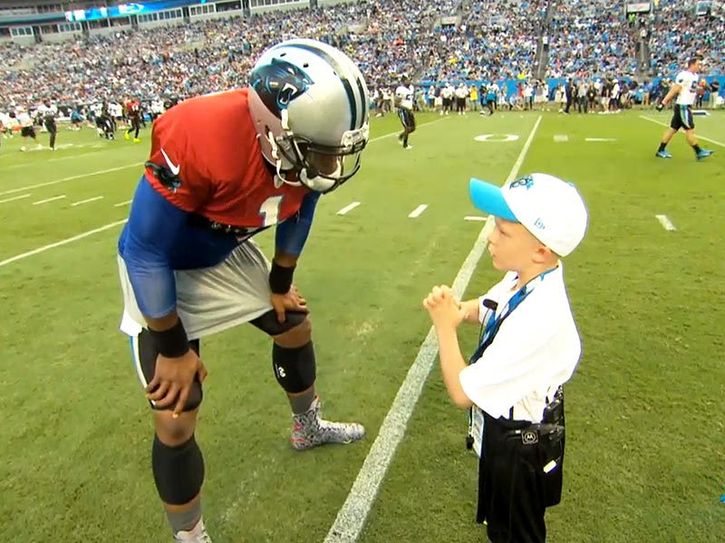 Braylon Bean, 6-Year-Old Cancer Patient, Acts as NFL Coach For a Day