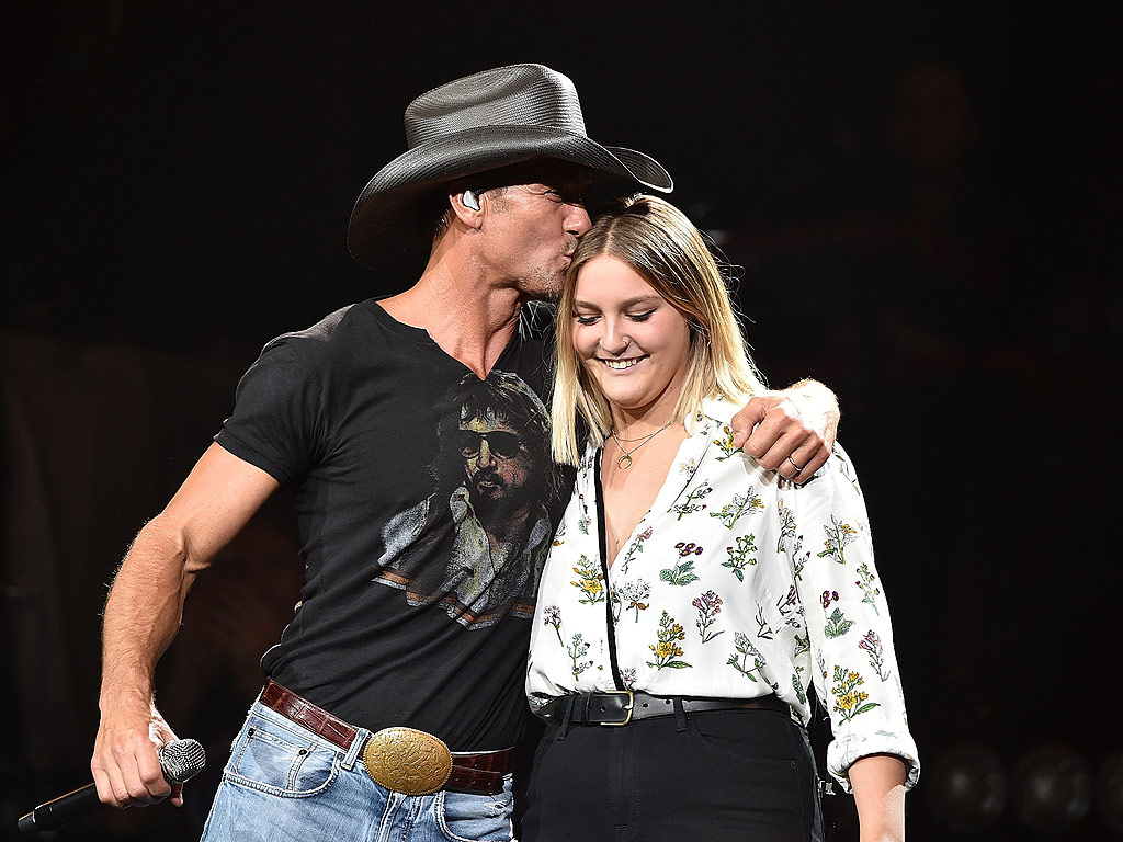Tim McGraw Daughter Gracie Perform New Song Here