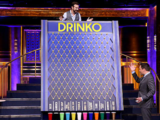 Jason Sudekis Downs a Nasty Cocktail When He Plays a Drinking Game with Jimmy Fallon