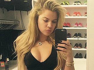 Wow! Khloé Kardashian Flaunts Her Tiny Midsection in Waist-Training Selfie (Photo)