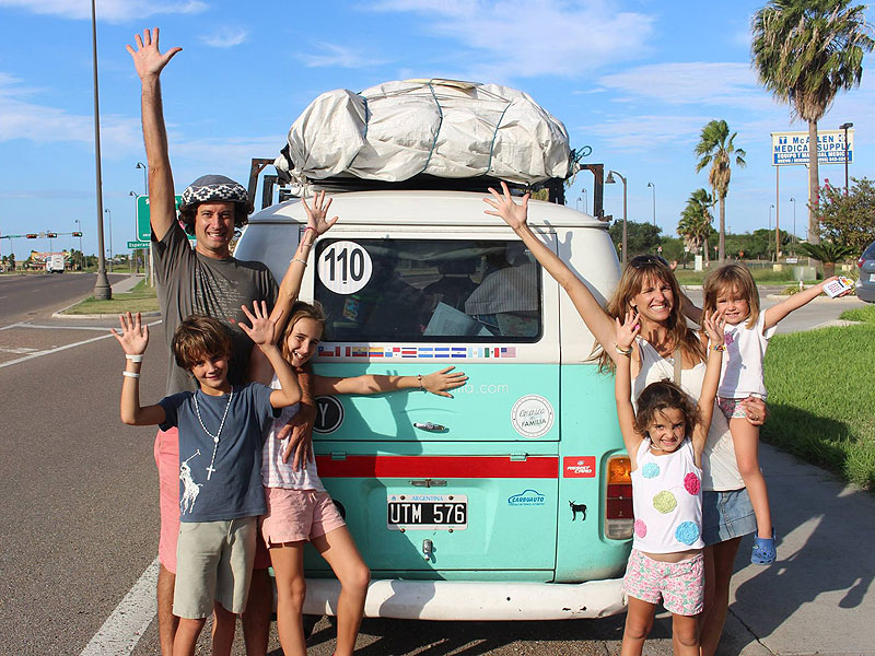 argentina road trip family meets pope