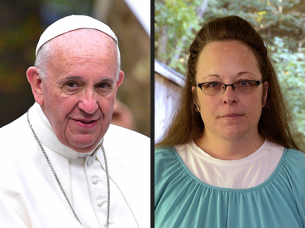 did pope francis meet with kim davis